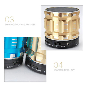 Image 5 - Aimitek S28 Portable Metal Mini Bluetooth Speaker Wireless Steel Outdoor Handsfree Stereo Subwoofer Support FM Radio TF Card AUX