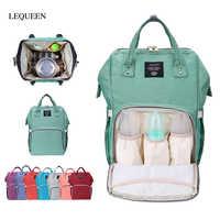 Mamá multifuncional de gran capacidad bolsas de pañales bebé mamá al aire libre viaje mochila impermeable cuidado del bebé bolsa de pañales
