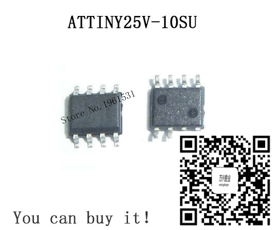 ATTINY25V-10SU SOP8 ATTINY25V-10 SOP ATTINY25V SMD 2piece/lot new and original