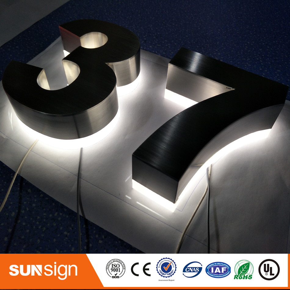 Backlit Metal Face & No Back Panel Led Lighting Illuminated Letter