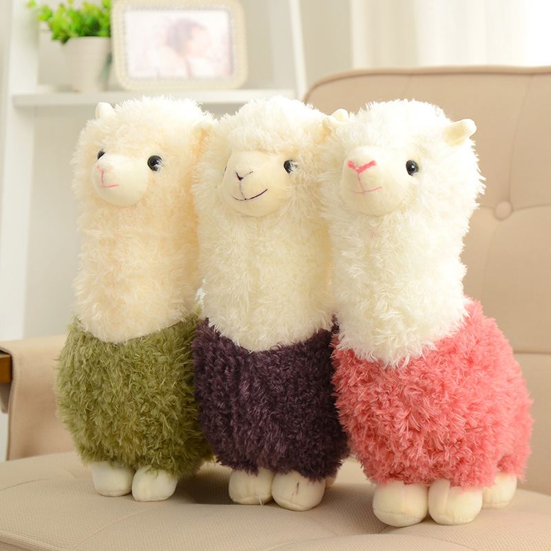 Hot Lovely Cartoon Alpaca Plush Doll Toy Fabric Sheep Soft Stuffed Animal Plush Llama Birthday Gift For Baby Kid Children stuffed animal jungle lion 80cm plush toy soft doll toy w56