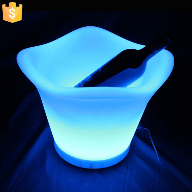 4.5L color changing led ice bucket furniture LED Beer Bucket coolers for bars party decorated wine tools Free Shipping 8pcs/Lot