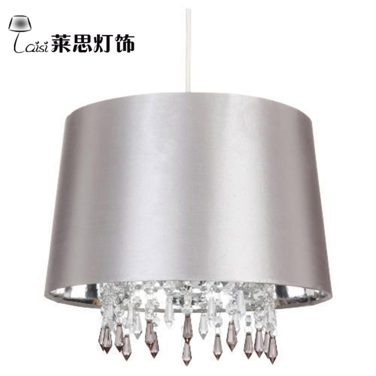Diy Fabric Lampshade New Real Art Decoration Lamp Shade Led Light Cover For E14