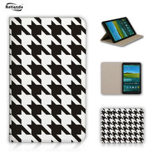 Classical Tartan Pattern Pu Leather Tablet Case Cover For Samsung Galaxy Tab S 8.4 T700 T705 Cases With Stand Fundas Coque
