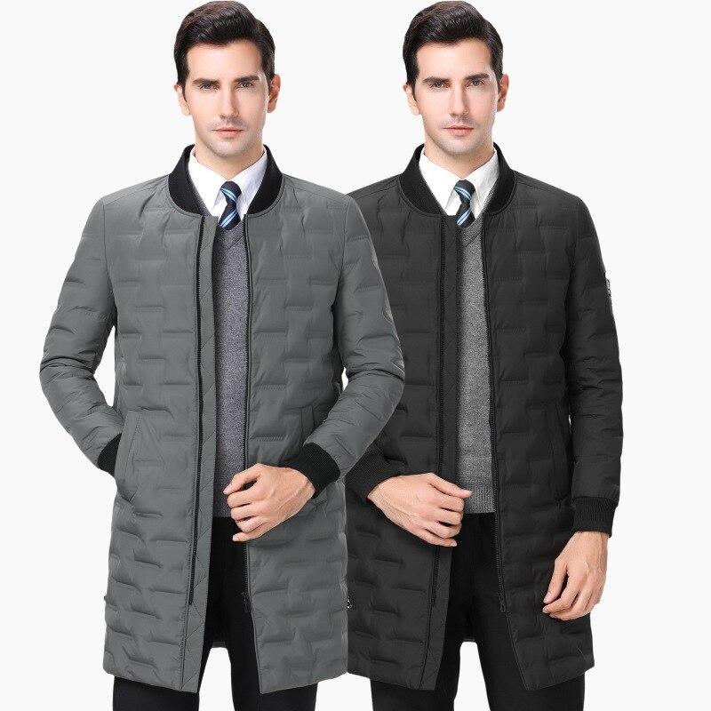 Schmuck & Zubehör GüNstiger Verkauf Mode Business Casual Winter Männer Unten Jacke Dreidimensionale Geometrische Muster Dekoration Große Größe Männer Winter Jacken