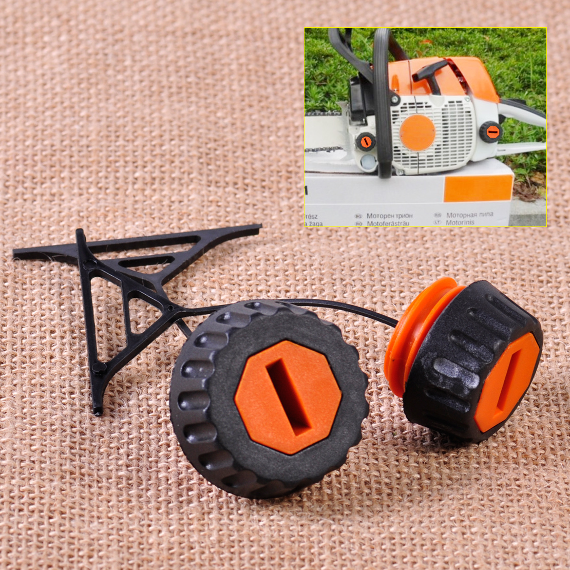 LETAOSK High Quality Gas Fuel Cap & Oil Cap Fit For Stihl 020 021 023 024 025 026 028 034 036 038 048