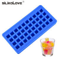 SILIKOLOVE  Silicone Ice Cube Tray Molds DIY Desert Cocktail Juice Maker Square Shape Summer Drinking Tool CE / EU BPA Free