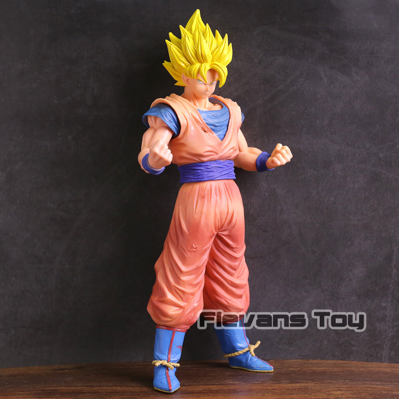 Dragon Ball Z Grandista Resolution of Soldiers ROS Super Saiyan Son Goku Gokou PVC Figure Collectible Model Toy sale original banpresto ros resolution of soldiers grandista collection figure super saiyan son goku gokou dragon ball z 28cm