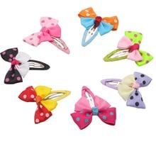 цена на Girls Hair Accessories Candy Color Dot Bow Hairpins Cute BB Accessories Hair Accessories Bowknot Hair Clip Headwear Barrettes