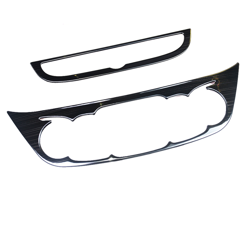 Interior Air Condition Navigation Panel Wire Drawing Stainless Steel Decoration Trims 2pcs For Chevrolet Equinox 2017 2018 2019