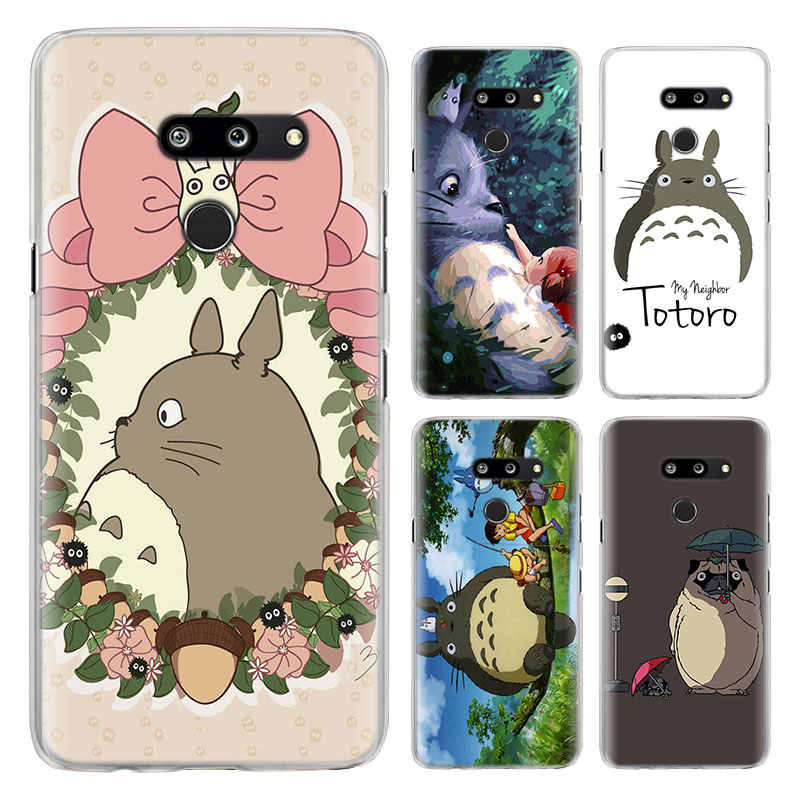 anime My Neighbor Totoro Phone Cases for LG G7 G8 ThinQ G5 G6 V30 V40 V50 ThinQ Q6 Q7 Hard PC back cover case