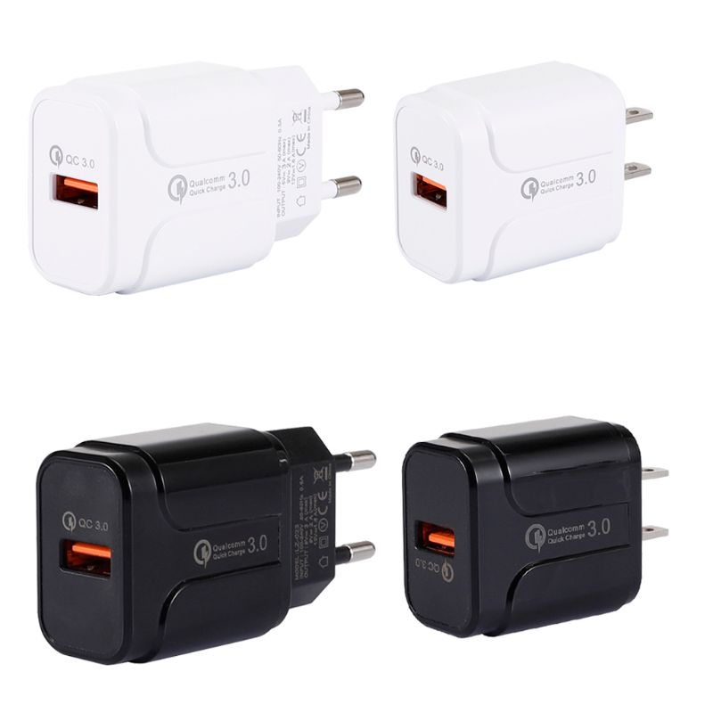18W Quick Charge 3.0 USB Wall Charger Fast Charging Adapter for Sony LG HTC ZTE Lenovo Moto Nokia Samsung Galaxy Smart Phones