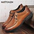 Zapatos de cuero masculinos de invierno hombres de negocios de los hombres correa de cuero de los hombres ocasionales diarias zapatos bajos zapatos de vestir