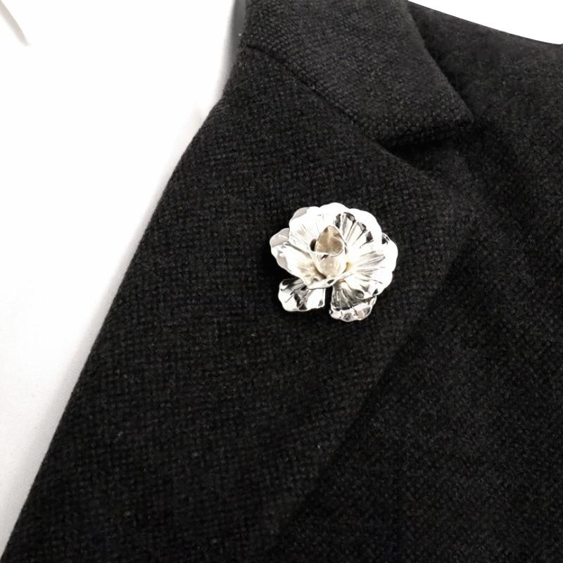 ND02-O Men/'s Flower Lapel Pin Boutonniere Brooch Enamel Special