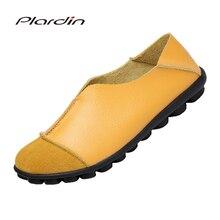 Plardin/ однотонные женские туфли Туфли без каблуков Модные Удобные Мокасины Женская повседневная обувь классические для вождения женская обувь мокасины