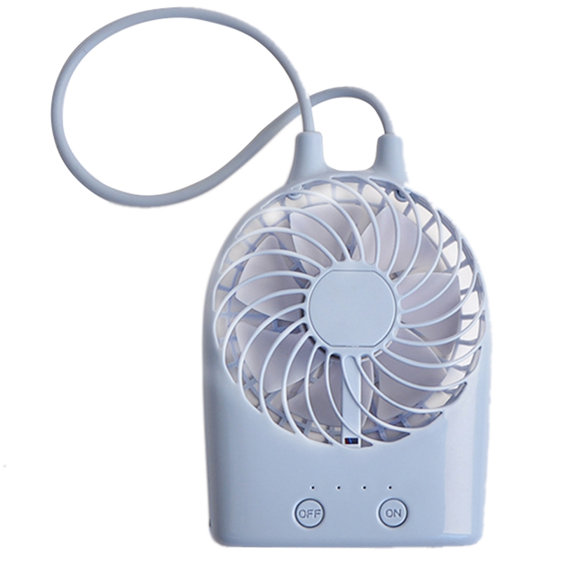 Usb Rechargeable Cute Mini Fan Desktop Electric Small Portable Handheld Usb Electric Mini Hand Blue|Fans| |  -