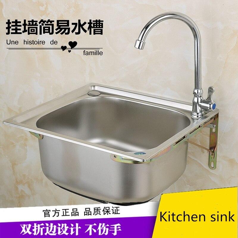 Évier de cuisine moderne en acier inoxydable 304 avec robinet de lavabo, bol unique, accessoires de cuisine, monté sur le pont, avec vidéo d'installation - 5