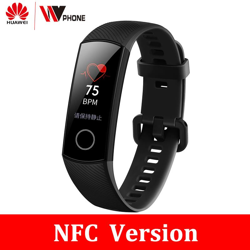 Original <font><b>Honor</b></font> <font><b>Band</b></font> <font><b>4</b></font> <font><b>nfc</b></font> version Smart Bracelet 50m Waterproof Color ouch screen Heart Rate Sleep Snap Smart Wristband image