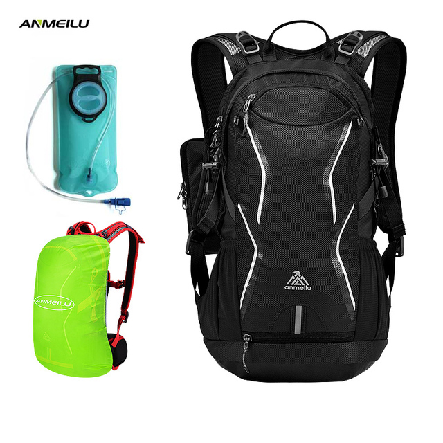 ANMEILU 2L Water Bag Outdoor Sport Camping Backpack Waterproof Hiking Fishing Cycling Climbing Hydration Backpack Water Bladder