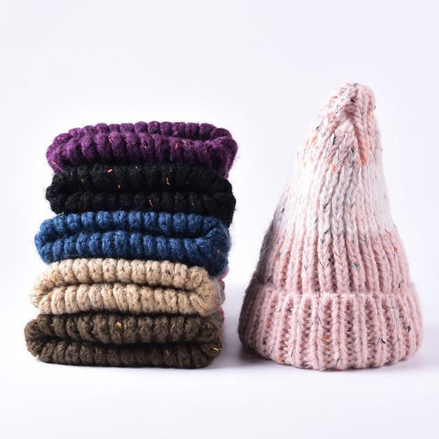 Novos Gorros Moda Skullies Chapéu Do Inverno Chapéu de Malha para Mulheres capô Senhora Marca Cap Quente Beanie Ski Hop Chapéu Ocasional ao ar livre