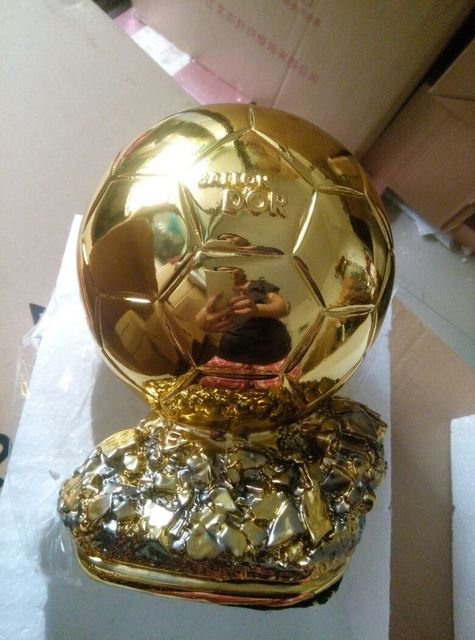 top quality15cm ballon d or trophy for sale resin best player awards