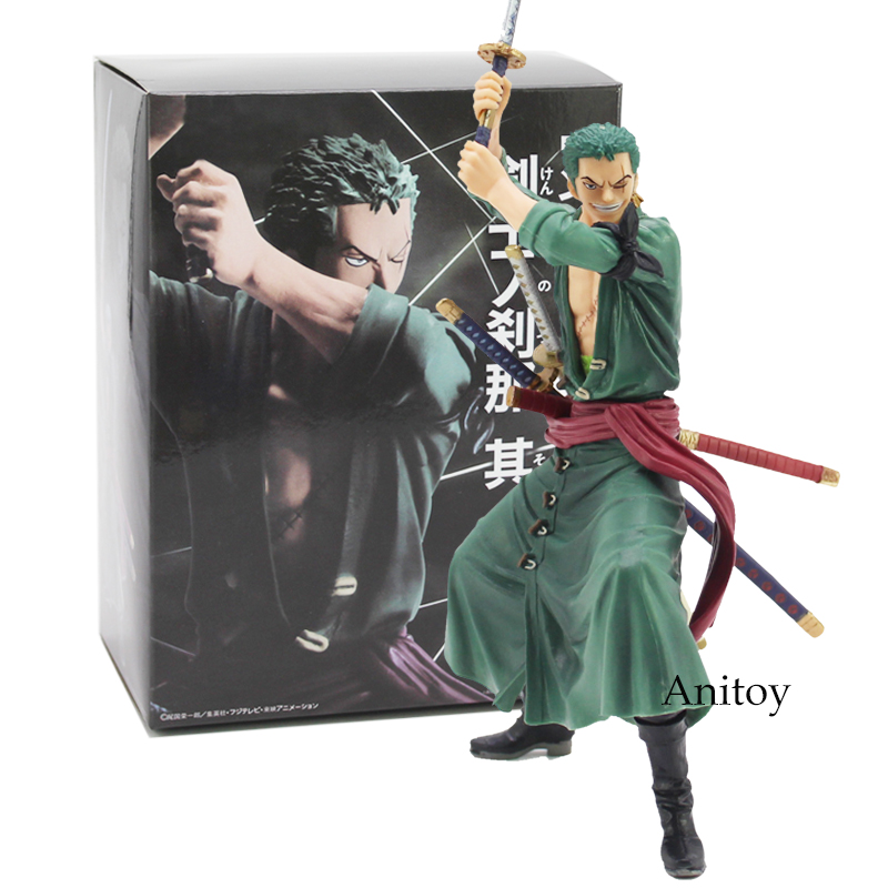 Anime One Piece Swordman Vol.1 Roronoa Zoro Doll PVC Action Figure Collectible Model Toy 17cm new hot 17cm one piece roronoa zoro action figure toys doll collection christmas toy with box combat version suolo5