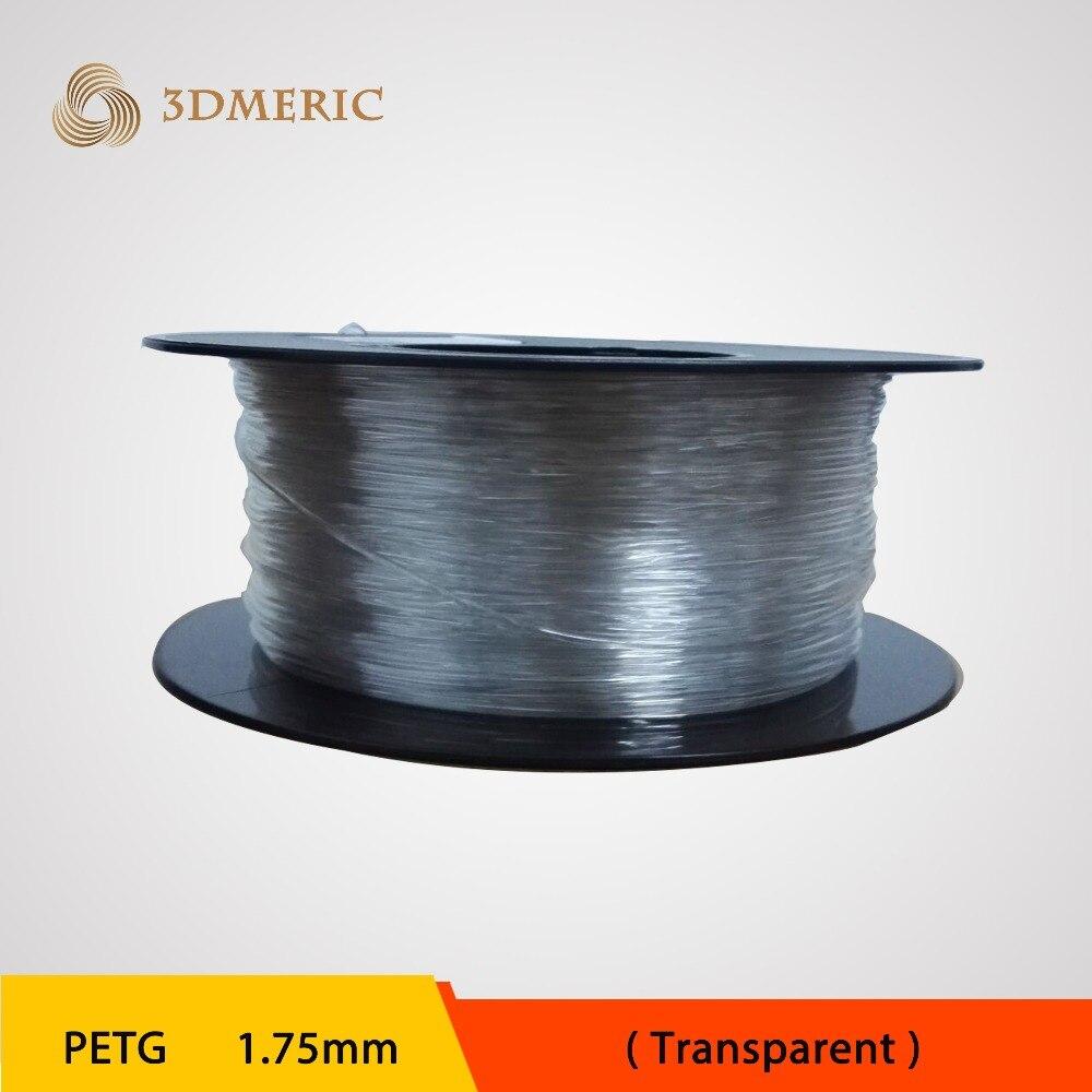 ФОТО Transparent PETG 3D Printer Filament 1.75mm 1kg/spool