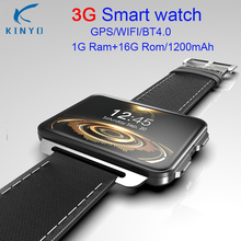 Kinyo Fashion 3G GPS Smartwatch 2.2inch Android 5.1 MTK6580 1.3GHz 1GB+16GB Smart Watch BT 4.0 Wearable Devices For Boyfriend