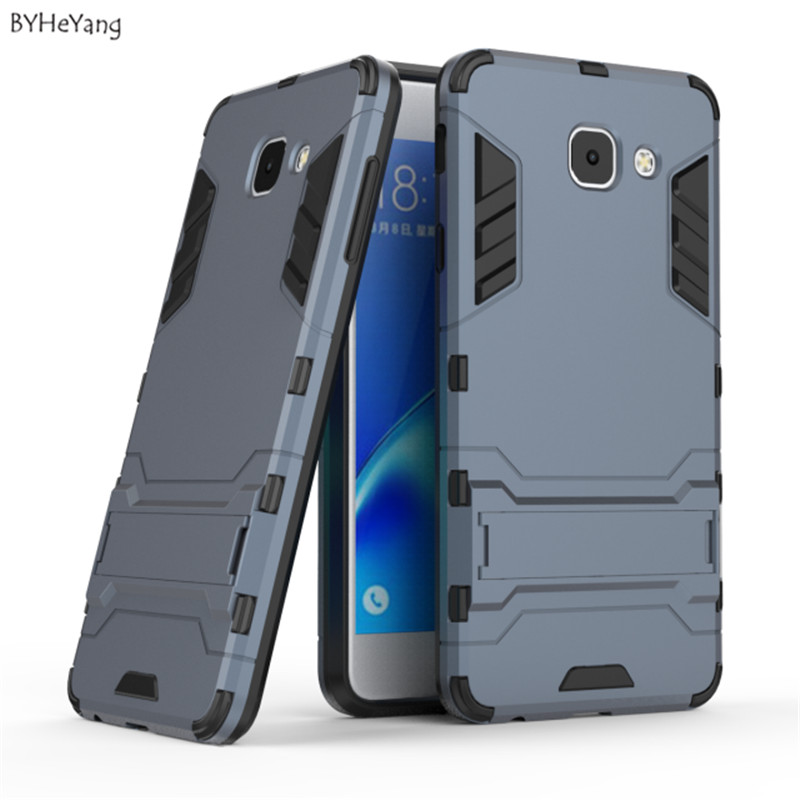BYHeYang case for Samsung Galaxy J7 Max case Cover 2 in 1 Armor Soft Shockproof Stand Back Case For Samsung J7 Max Phone Case