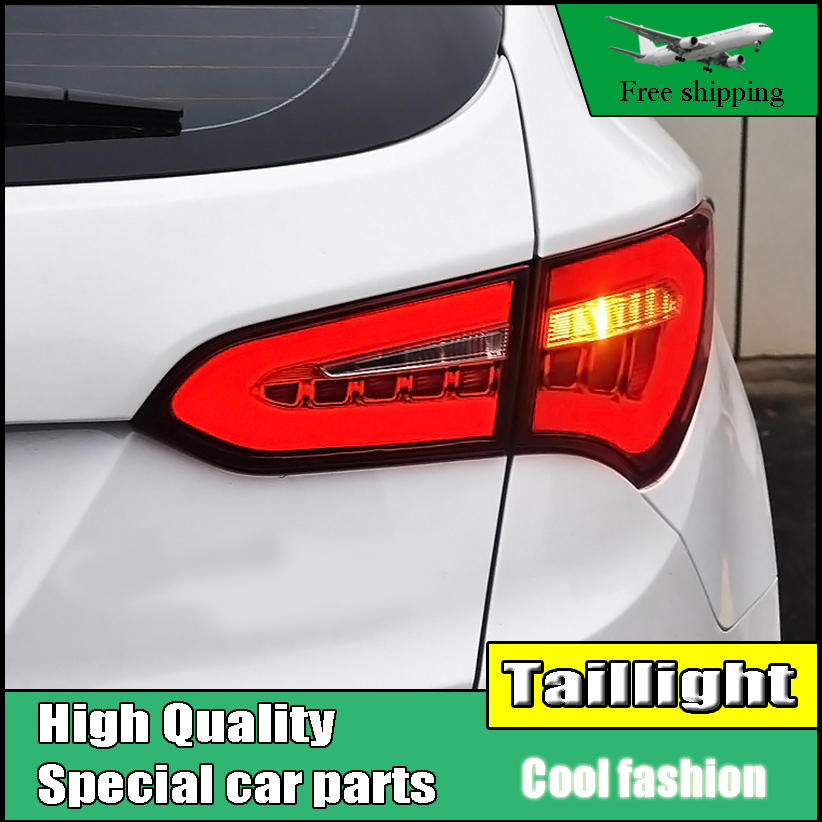 Car Styling LED Tail Lamp For Hyundai Santa Fe IX45 2013-2015 Taillights Rear Light DRL+Turn Signal+Brake+Reverse Accessories car styling case for hyundai elantra taillights tail lights led tail lamp rear lamp drl turn signal brake reverse