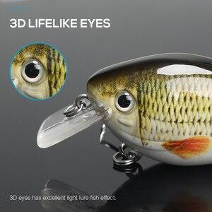 Image 4 - TREHOOK 6cm 12g Kurbel Wobbler für Fisch Schwimmende Künstliche Harten Köder Hecht Crankbait Topwater Locken minnow