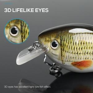 Image 4 - TREHOOK 6cm 12g manivelle Wobblers pour poisson flottant artificiel dur appât brochet manivelle appâts de pêche attirail Topwater Lure vairon