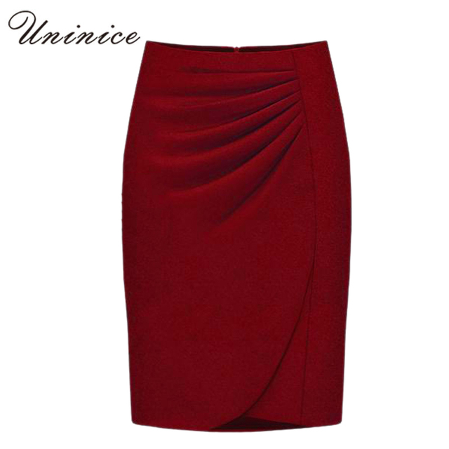 Cheap Woolen Women Pencil Skirts Women 2016 Autumn/Winter OL Style Working Slim Long Plus Size Long Solid Women Skirt Woolen New
