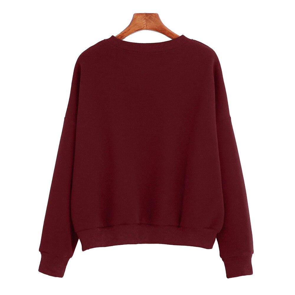 CHAMSGEND 2018 Hoodies Women Style Long Sleeve Hoodies Winter Warm Casual Cotton Sweatshirt Letter Print Pullovers Women Hoodies