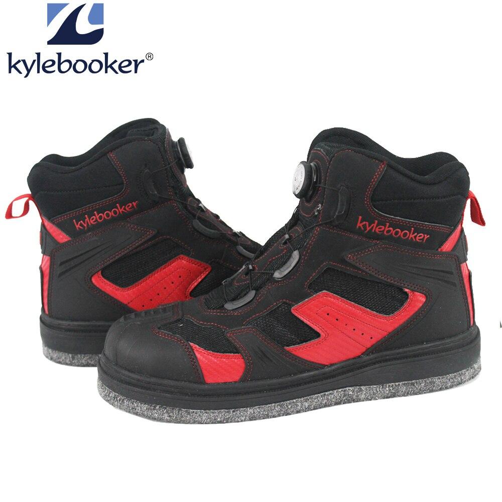 Мужские Противоскользящие Войлочные ботинки с шипами; уличные дышащие ботинки для рыбалки; водонепроницаемые ботинки