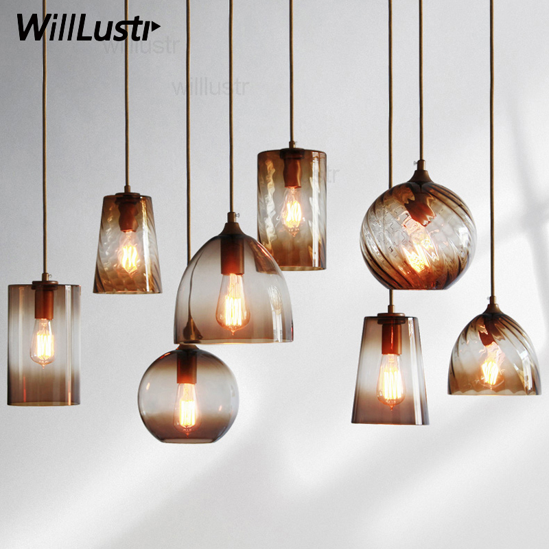 color glass shade pendant lamp modern suspension light hotel hall restaurant dinning room bar cafe loft vintage hanging lighting chinese style bamboo pendant light dinning room suspension lamps bar restaurant study kitchen office pendant lamp