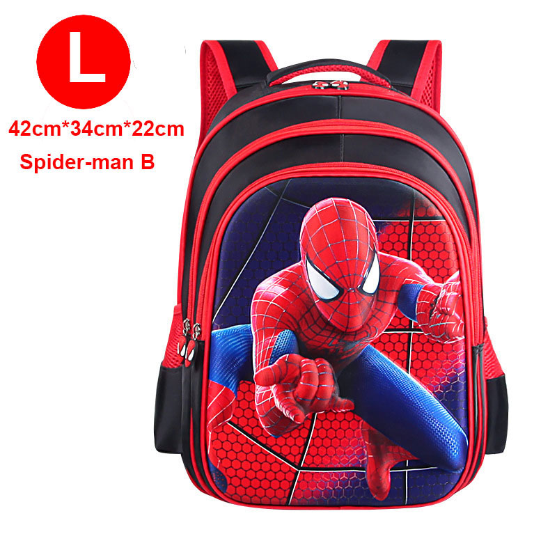 New Children School Bag Boys Girls Spiderman Captain America Cartoon Kindergarten Schoolbags Kids Orthopedic Backpacks 4-13 Year