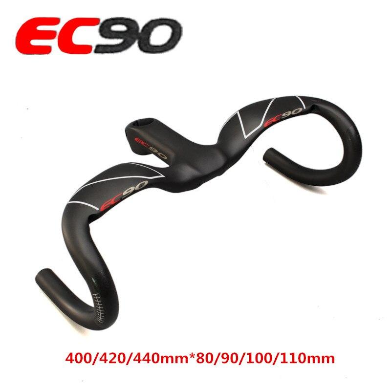 Road bike integrated handle handlebar carbon fiber fixed gear stem handlebar overall 400mm 420mm 440mm road