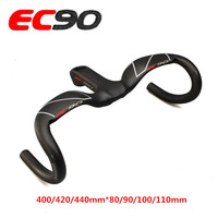 Road bike integrated handle handlebar carbon fiber fixed gear stem handlebar overall 400mm 420mm 440mm road bar ultralight
