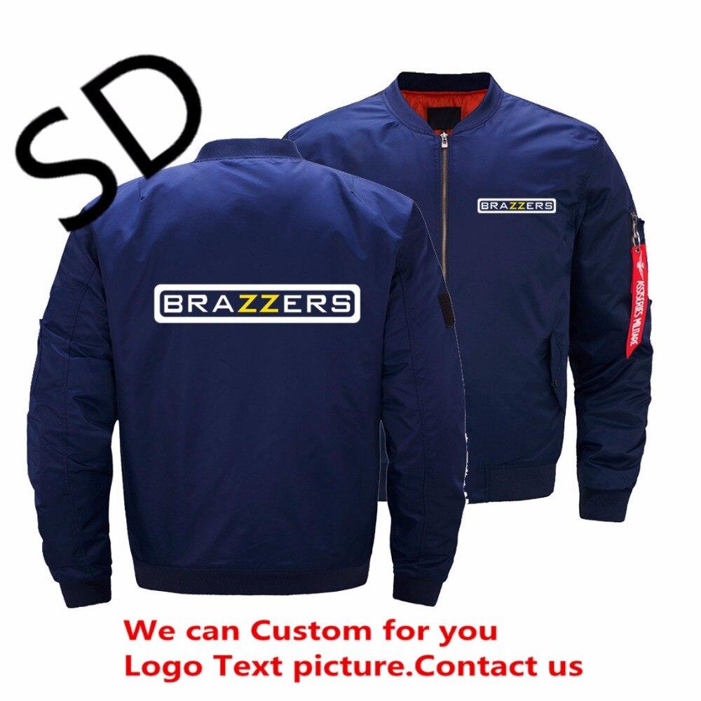 Dropshipping USA Size Brazzers chaqueta hombres marca hombres bombardero chaquetas casaco masculino ropa 2018 Harajuku abrigo veste homme 5XL