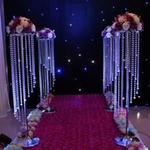 Rotazione de cristallo acrilico strada conduce centro de cerimonia nuziale/centrotavola 48