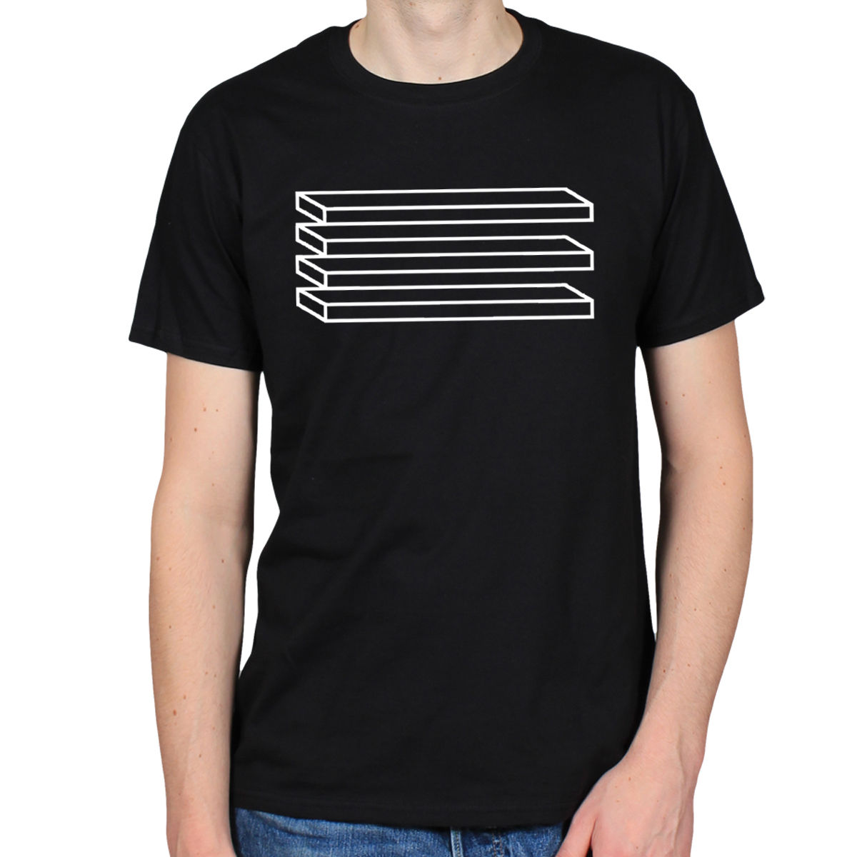 OPTICAL ILLUSION SHELVES PATTERN TRIPPY PSYCHEDELIC ART HIPSTER MENS T-SHIRT  TEE High Quality Men d13eec35c0da