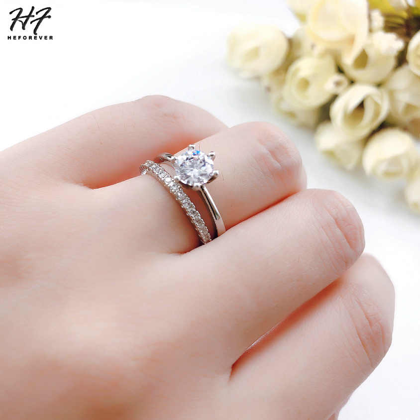 Classic Wedding Rings Set For Women Multiple Combinations Rose