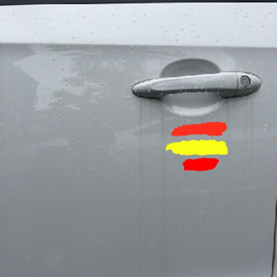 4  PEGATINA STICKER Bandera española españa  autocollant AUFKLEBER vinyl vinilo
