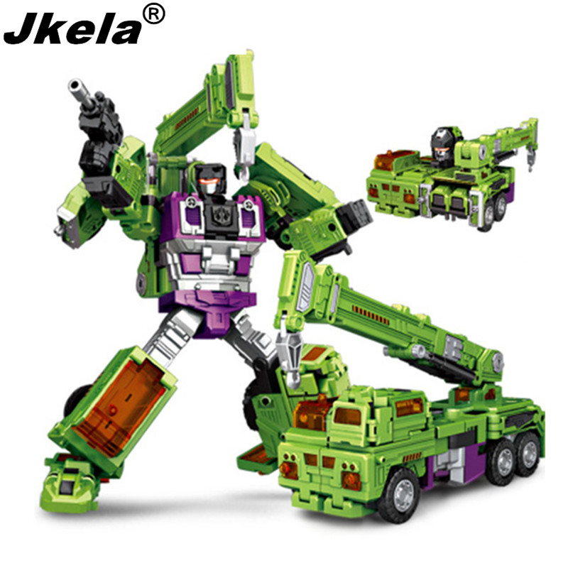 Jkela New NBKs 1-6 Transformation Robot Ko  Devastator Figure Toy Right Thigh Action Figure Toys Christmas Gifts hot sale transformation devastator metal part kbb mp10 v optimus prime figure classic toys robot cars for kids christmas gifts
