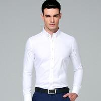 2016 Brand New Men S Slim Fit Shirt Cotton Blend Long Sleeves Men Dress Shirts Men