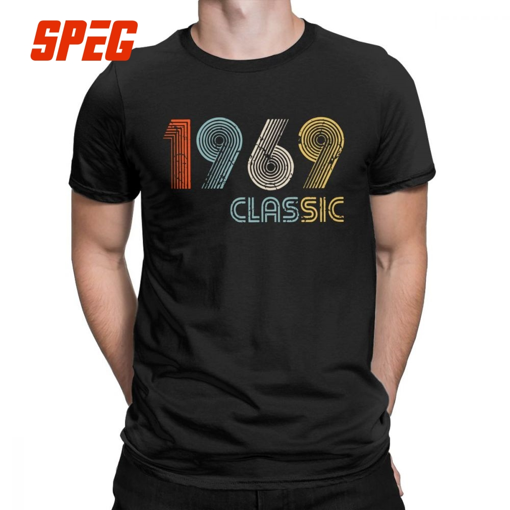 Men 1969 Classic 50 Years Old T Shirts 50th Birthday Popular O Neck Short Sleeve Clothes 100 Cotton Tees Gifts Shirt
