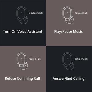 Image 4 - Xiaomi Redmi AirDots kablosuz Bluetooth 5.0 şarj kulaklık In Ear stereo bas kulaklık AI kontrolü mikrofon ile Handsfree kulaklık