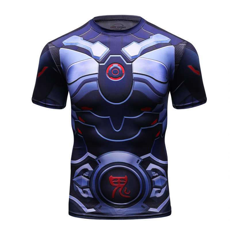 2018 3D Printed High-Quality Short Sleeve Men's T-shirt Workout Fitness Punk Style MMA T shirt Men Camisetas Funny Tshirt New
