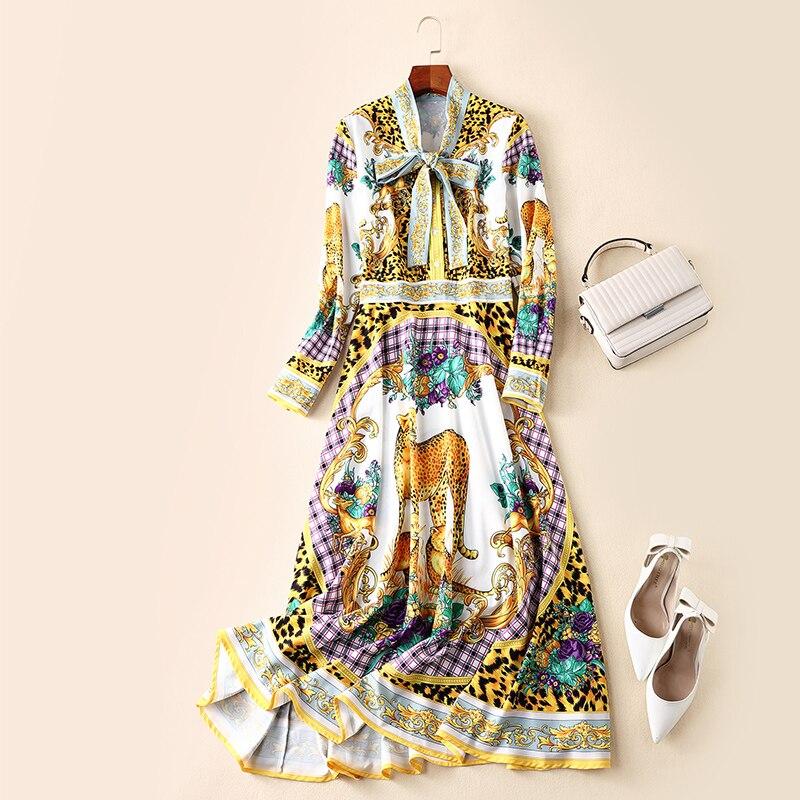Verano Vestido Elegante Lvydala Péndulo Mujeres Lndependiente Vintage Primavera Nuevo Gran Gente 2019 Y Arco qpatrXaP